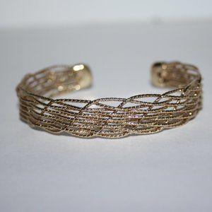 """Beautiful gold cuff bracelet 7"""""""